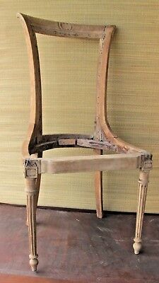 Antique French Louis XVI Period Chair. Appears authentic.
