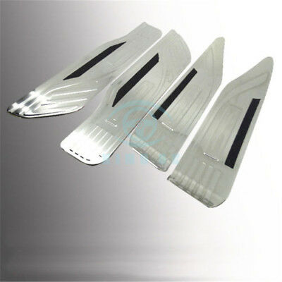 For Toyota Alphard 2015-2016 Stainless Steel Blue Led Door Sill Scuff Plate 4PCS