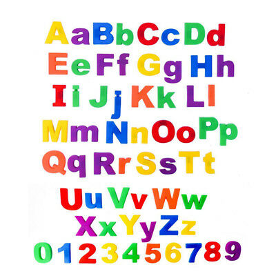 26pcs Lower/Upper Case Letters Number Magnetic Fridge Kid Learning Toys Reliable