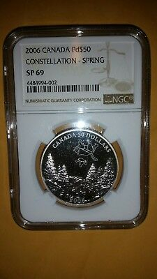 2006 $50 Canadian Palladium Big and Little Bear Constellation Coin Spring SP69