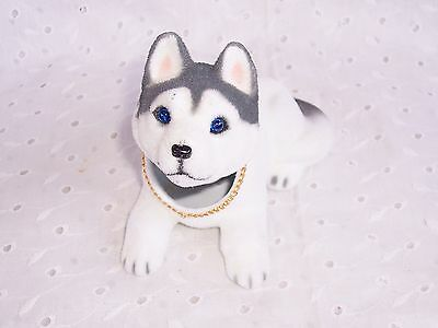 Alaskan Husky Dog One Bobbing Head   Cute - Car - Office - Decoration - Fun New