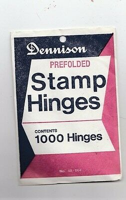 Dennison Prefolded Stamp Hinges Package Of 1000  #48-064