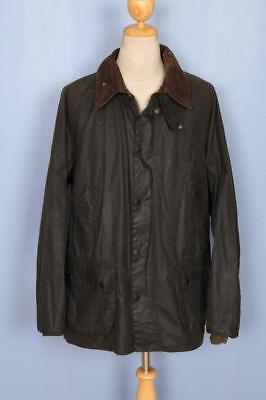 Mens BARBOUR Bedale WAXED Jacket Green Size 48