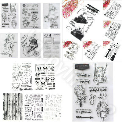 Transparent Clear Silicone Rubber Stamp Scrapbook DIY Crafts Cards Decoration