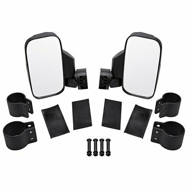Side View Mirror Set For Polaris Ranger RZR, Yamaha Rhino, Gator Honda Kawasaki