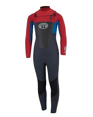 Animal Lava 4/3mm Wetsuit - Rich Red (2018) - Boys Chest Zip