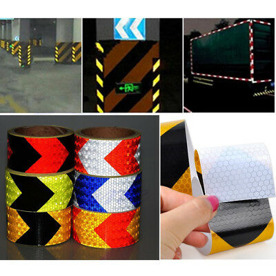 """2""""X10'Night Reflective Safety Warning Conspicuity Tape Strip Arrow Sticker Decal"""