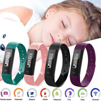 Fitness Tracker Wristband Smart Bluetooth Bracelet Band Watch Strap Activity