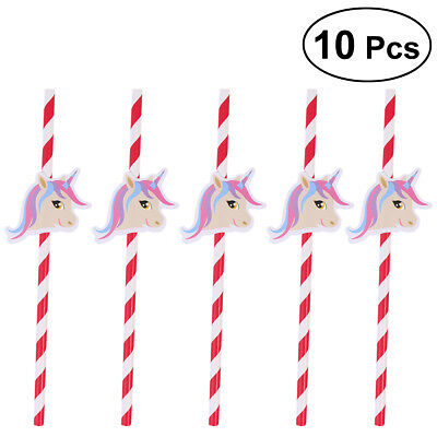 Unicorn Tubularis Decorative Disposable Flexible Bendable Straws for Party Table