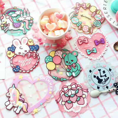 LC_ BA_ Cute Kawaii Silicone Cup Mug Coasters Table Mat Pad Home Kitchen Decor