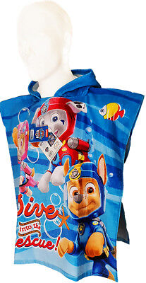 Paw Patrol Poncho Towel Bath/Beach Official Hooded Towel Beach/Bath Cotton Towel