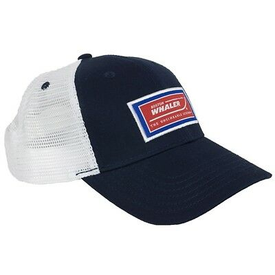 Boston Whaler Hat -OEM- Navy Blue with White Mesh - Quantity discounts available
