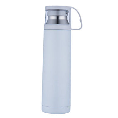 Vacuum Flask Stainless Steel Insulated Thermal Mug Water Bottle 500ml White