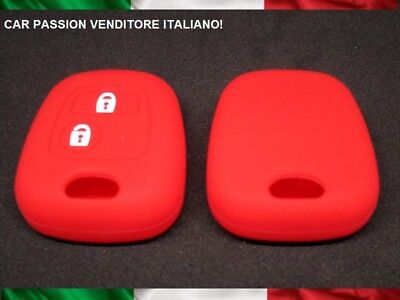 Guscio Chiave Peugeot Silicone 107 207 307 206 306 406 Toyota Aygo Cover Rosso