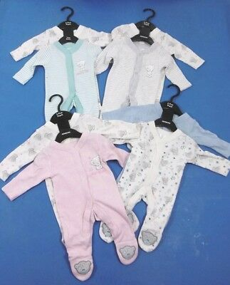 Me to You Tiny Tatty Ted Teddy Baby Girl Boy 1 or 2 Pack  Sleepsuits  N/B - 24