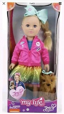 "Brand New JoJo Siwa 18"" MY LIFE Doll with BowBow Plush dog. Hard to find"