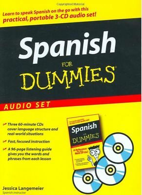 Spanish For Dummies Audio Set 3 Hours of Lessons 3 CDs Learn for Beginners