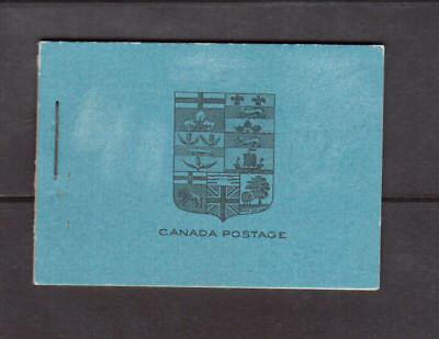 Canada Booklet #10b Very Fine Never Hinged Scarce Booklet Large Capitals English