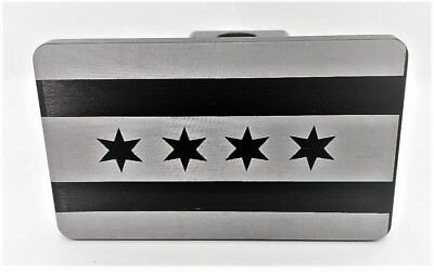 CHICAGO FLAG, Billet Aluminum Hitch Cover Plug, 4x6  Made In USA