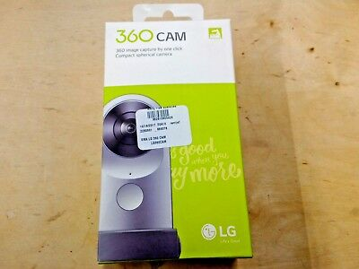 NEW LG 360 CAM Spherical Camera Wide-Angle 2K Video Silver LG-R105 $199.99 MSRP