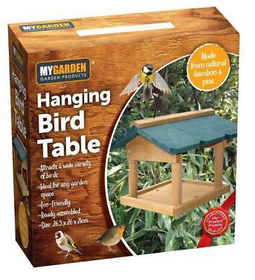 Wooden Hanging Wild Bird Table Garden Park Bird Feeder Feeding Station for Birds