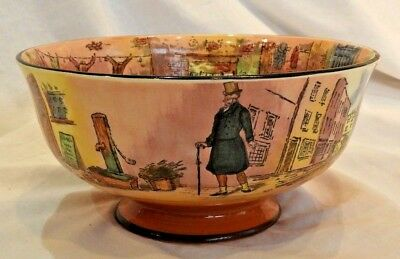 Rare Royal Doulton Dickens Ware Bowl with Dickens Characters D6327