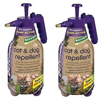 2x Defenders STV624 Cat & Dog Repeller Pump Action Spray Bottle 1.5L - FREE P&P