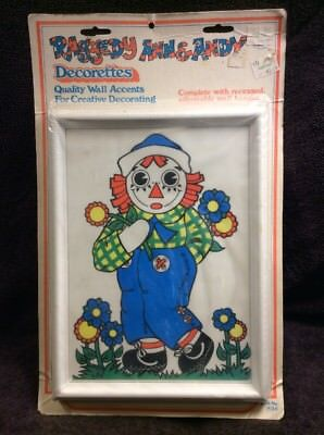 Raggedy Ann and Andy Hanging Wall Accent Vintage 1977 NEW OLD STOCK