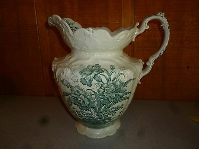 USED Vintage CARNATION China Water Pitcher, Dudson Wilcox & Till Co