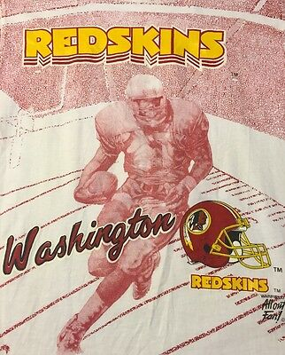 Washington Redskins T Shirt Graphic Tee 100% Cotton Short Sleeve