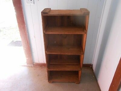 Folk/Primitive Rustic Beautiful Patina Seasoned Aged Wood  Bookcase/Stand