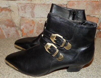 d23e4ec05 ... Black Size 8.5 Gold Buckles Spain Leather Booties Y3.  17.99 Buy It Now  14d 21h. See Details. Cougar Genuine Leather Boots Made In Spain Womens Size  ...