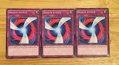 3 X Ldk2-Enk33 Negate Attack 1St Ed Mint Playset