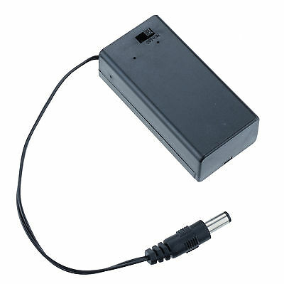 9V PP3 Enclosed Battery Holder ON/OFF Switch with DC 2.1mm Plug