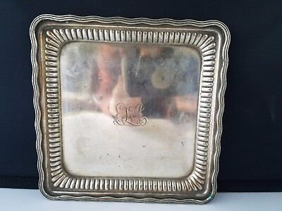 "Tiffany & Co. Makers 8216 111 Trinket Plate Tray  Silver Soldered M 6"" Vtg"