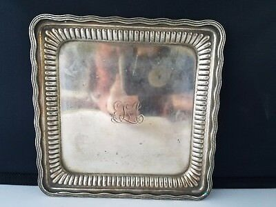 """Vtg Tiffany & Co. Makers 8216 111 Trinket Plate Tray  Silver Soldered M 6""""."""