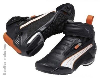 "PUMA Testastretta 3 250 ""motorcycle"" shoes, black-white-orange, BRAND NEW!!!"