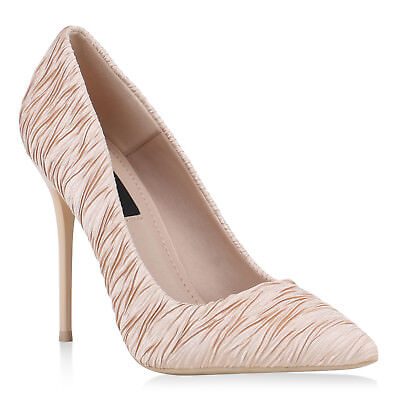 NEW DESIGN DAMEN SCHUHE 145635 PUMPS NUDE 36