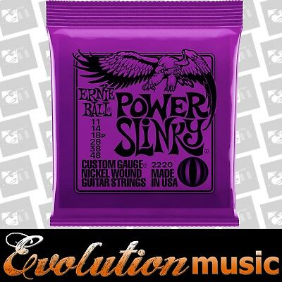 ERNIE BALL 2220 POWER SLINKY PURPLE 11/48 Electric Guitar Strings Set