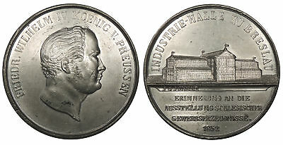 GERMANY Silesia Breslau By J.G. Junker 1852 53mm Medal AU