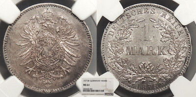 GERMANY Wilhelm I 1873-B Mark NGC MS-61
