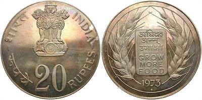 INDIA: 1973-B 20 Rupees FAO Proof #WC70188