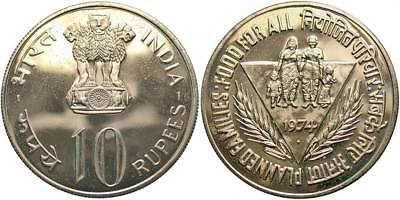 INDIA: 1974 10 Rupees Proof #WC70259