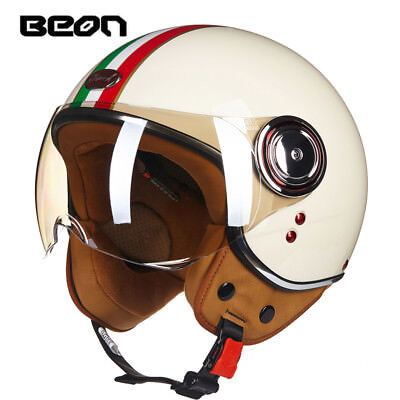 BEON 110B Motorcycle 3/4 Half Face Helmet Scooter Vintage Retro E-bike Headgear