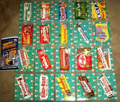 """2018 Wacky Packages Go To The Movies """"CONCESSION STAND STICKERS"""" Set + Wrapper"""