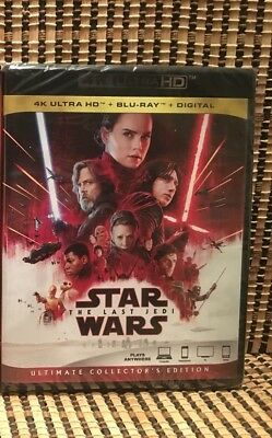 Star Wars: The Last Jedi 4K (3-Disc Blu-ray, 2018)+Slipcover.Disney/Episode 8