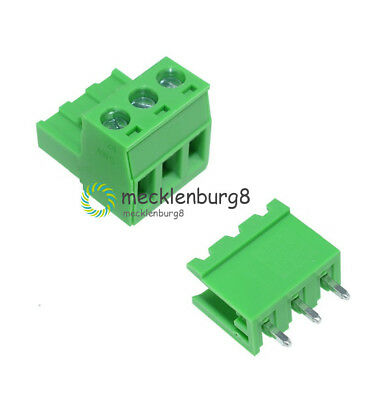 10Stks 5.08mm Pitch KF2EDGK KF-3P 3 Pin Right Angle Plug-in Terminal Connector S