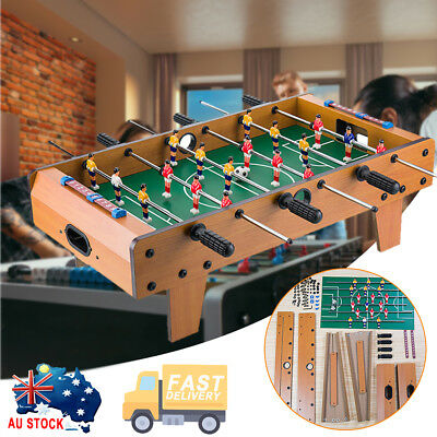Football Table Top Soccer Kids Family Game Toy Set Wooden Frame Indoor Outdoor
