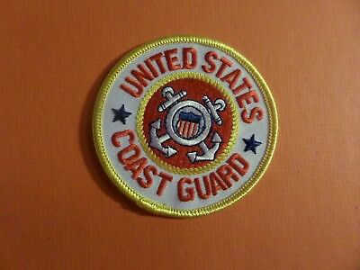 UNITED STATES COAST GUARD Embroidered 3 x 3 Iron On  Patch