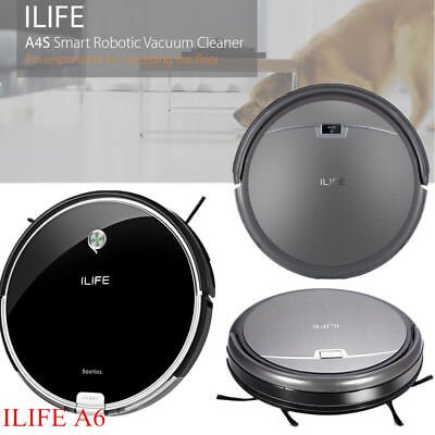 ILIFE A6/A4S Intelligent Robotic Vacuum Cleaner Cordless Floor Cleaning Machine